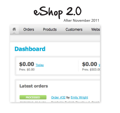 eShop 2.0 for clients after November 2011